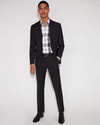 Express Extra Slim Performance Stretch Wool-Blend Check Suit Pant
