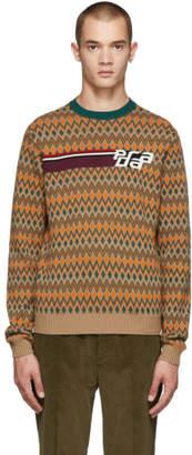 Prada Multicolor Logo Crewneck Sweater