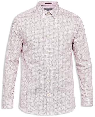 Ted Baker Skyee Geo Print Phormal Regular Fit Button-Down Shirt