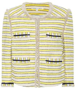 Veronica Beard Talie striped tweed jacket