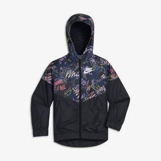 Nike Sportswear Windrunner Older Kids'(Girls') Printed Jacket