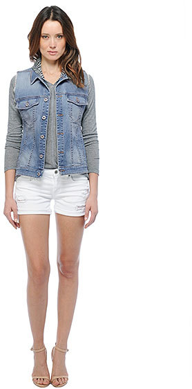 BB Dakota Ryan Raw Edge Oversized Vest