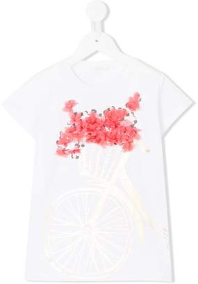 Liu Jo Kids bike-print T-shirt