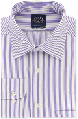 Eagle Men's Classic/Regular Fit Non-Iron Flex Collar Stripe Dress Shirt