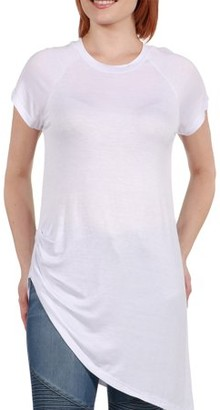 24/7 Comfort Apparel Women's Zola Asymmetric Short Sleeve Tee