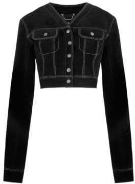Marc Jacobs Redux Grunge Suede Cropped Jacket
