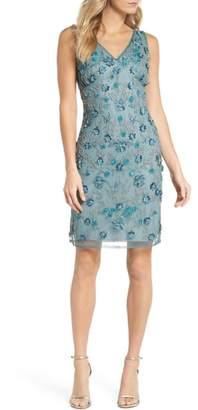 Pisarro Nights 3D Floral Embellished Sheath Dress