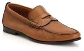 Santoni Penny Leather Loafers