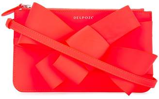 DELPOZO asymmetric bow clutch