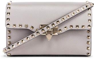Valentino Rockstud Small Shoulder Bag in Pastel Grey | FWRD