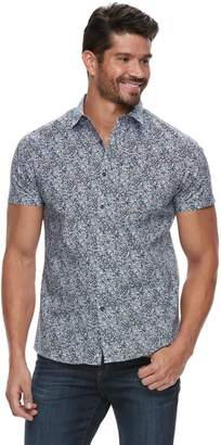 Marc Anthony Men's Slim-Fit Patterned Casual Button-Down Shirt