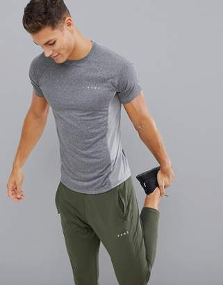 Asos 4505 training t-shirt with breathable mesh panels and quick dry in gray marl