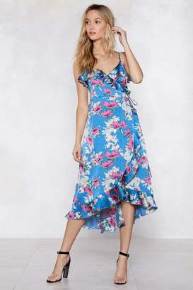 Nasty Gal Wrap Out Floral Dress
