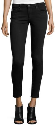 AG The Legging Low-Rise Skinny Ankle Jeans, Black $139 thestylecure.com