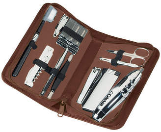 Royce Leather Royce Executive Travel and Grooming Toiletry Kit in Leather with Stainless Steel Implements