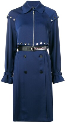 Karl Lagerfeld Paris Transformer pleated trench coat