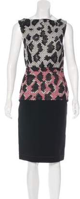 Balenciaga Snakeskin Sheath Dress