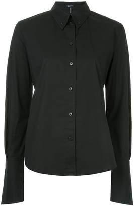 Jil Sander Navy exaggerated sleeve collared shirt