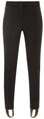 Fendi Logo Stripe Stirrup Ski Trousers - Womens - Black