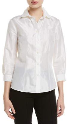 Carolina Herrera Taffeta Button-Front Shirt