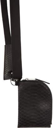 Rick Owens Black Python Twin Strap Wallet