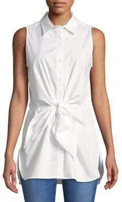 Calvin Klein Tie Front Button-Down Shirt
