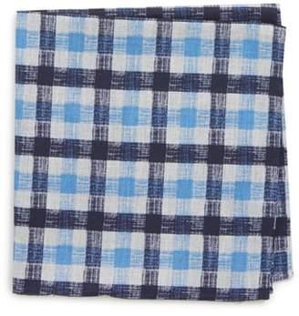 Nordstrom Check Silk Pocket Square