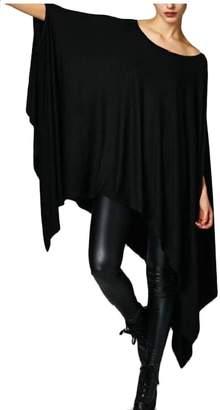 ab204ba072e TD-CACA Women Batwing Sleeve Off Shoulder Irregular Hem Tunics Loose Tops 1  XL