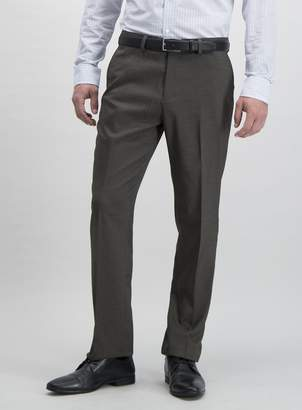 Tu Brown Textured Tailored Suit Trousers