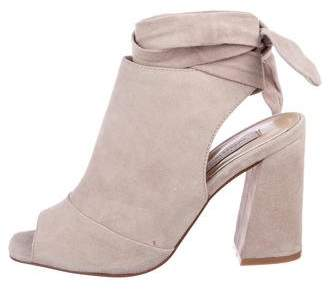 Chinese Laundry Suede Peep-Toe Booties