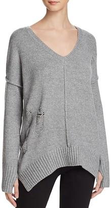 John + Jenn Oversized Deep V Sweater - 100% Exclusive $159 thestylecure.com