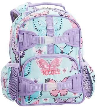 Pottery Barn Kids Mackenzie Aqua Lavender Pretty Butteflies Classic Lunch Bag