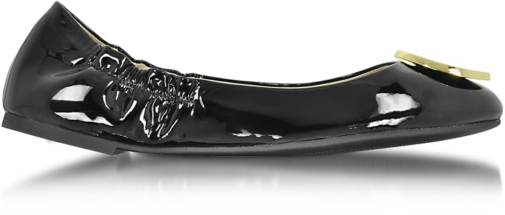 Tory Burch Tory Burch Twiggie Black Patent Leather Ballerina