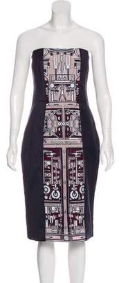 Mary Katrantzou Strapless Knee-Length Dress w/ Tags