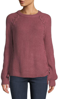 Lost + Wander Reina Lace-Up Side-Bow Sweater