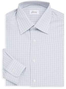 Brioni Cotton Check Dress Shirt