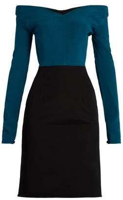 Emilio De La Morena Olena off-the-shoulder silk-blend dress