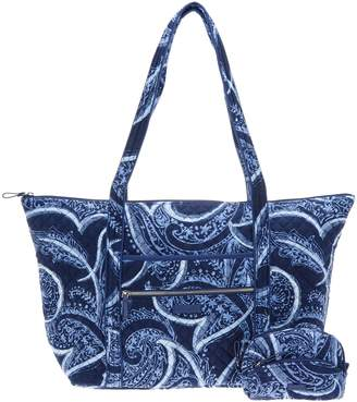 Vera Bradley Iconic Signature Miller Travel Bag w/ Cosmetic