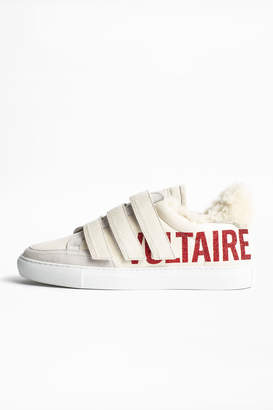 Zadig & Voltaire ZV1747 Shearling Sneakers