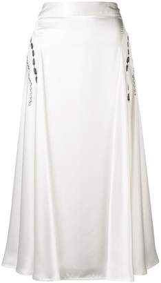 Victoria Beckham side drape skirt