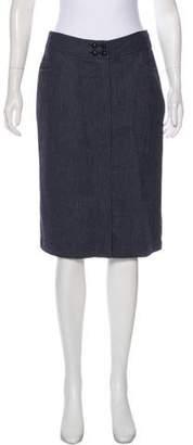 Tocca Wool Herringbone Skirt
