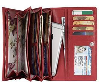 Mou Meraki Women RFID Blocking Real Leather Bifold Wallets For Women-Shield Against Identity Theft ()