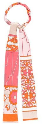 Emilio Pucci Abstract Print Silk Scarf $65 thestylecure.com