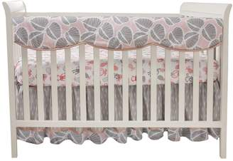 Lambs & Ivy Calypso Leaf Print Crib Rail Cover