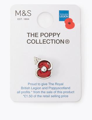 Marks and Spencer Enamel Poppy Pin