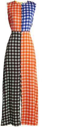 Diane von Furstenberg Contrasting Cossier-print stretch-silk dress
