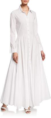 Evi Grintela Juliette Italian Cotton Flared Shirt Dress
