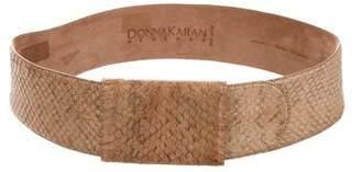 Donna Karan Snakeskin Waist Belt