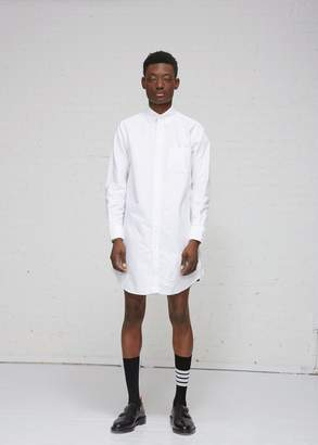 Thom Browne Thigh Length Point Collar Oxford Shirt