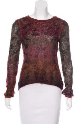 Theyskens' Theory Mohair-Blend Knit Sweater